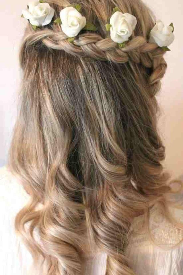 Curly top plait