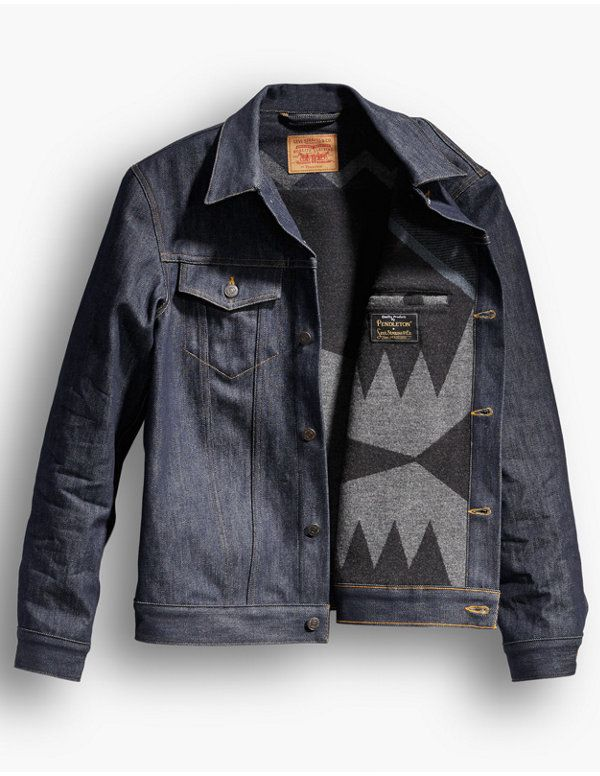 ac4172d76d5bd Levis + Pendleton Trucker Jacket Levis Jean Jacket, Levis Jeans, Men s Denim,  Collection