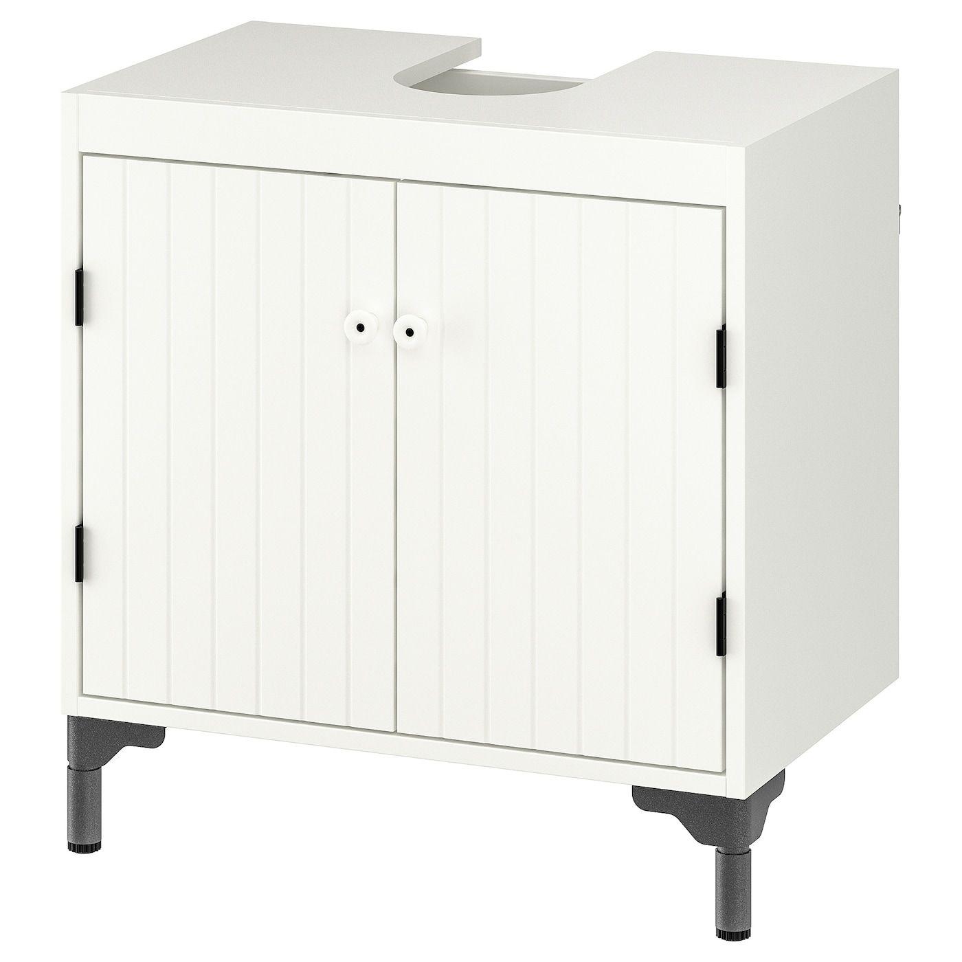 Silveran Wash Basin Base Cabinet W 2 Doors White 60x38x63 Cm In 2020 Waschbeckenunterschrank Badezimmer Unterschrank Unterschrank