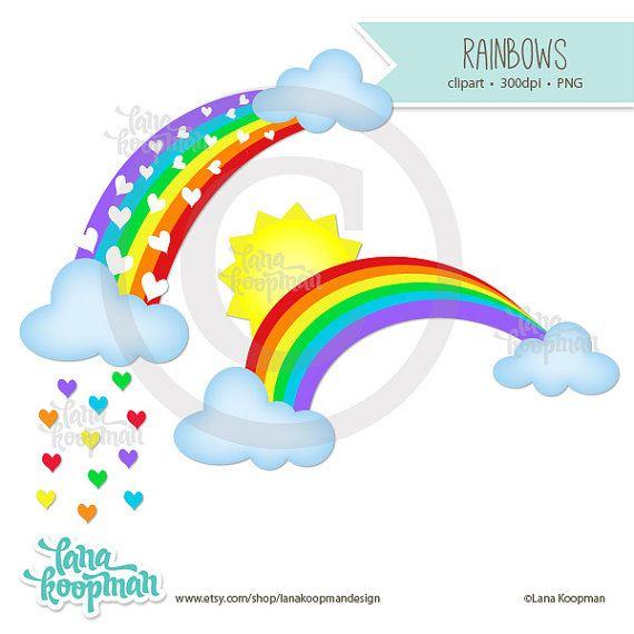 rainbow clipart cloud clipart sun clipart by lanakoopmandesign rh pinterest com au