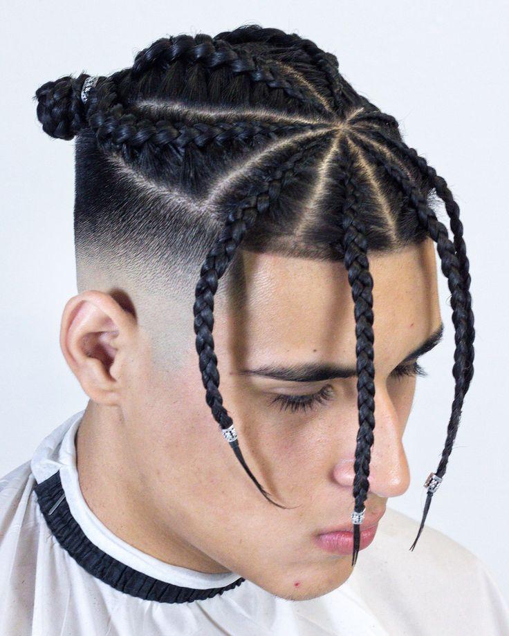 Peinados con trenzas para hombres