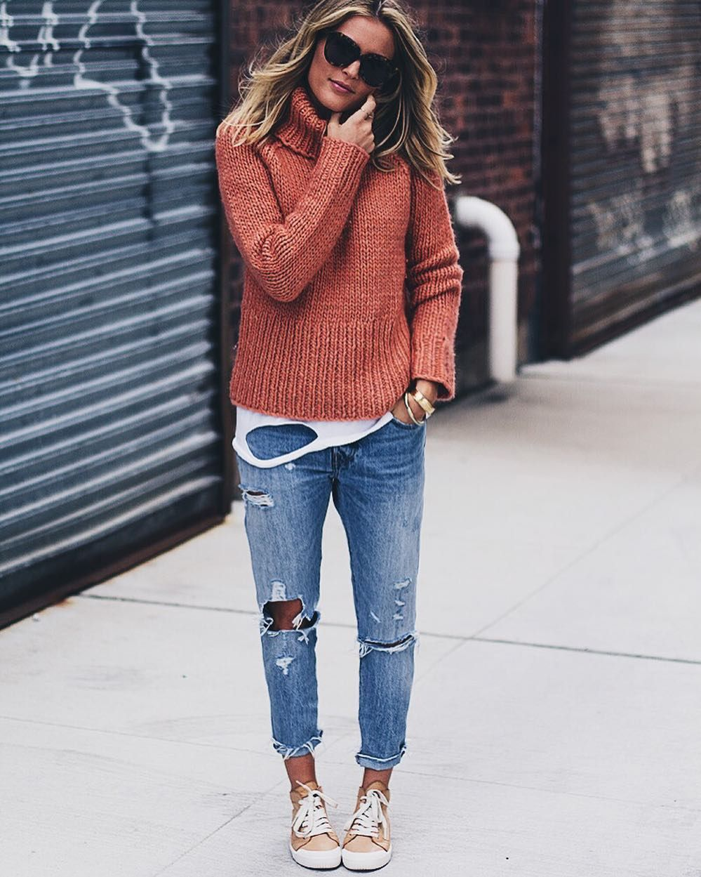 Ripped jeans flannel shirt  New post on LM iftMfZuoG  f a s h i o n  Pinterest