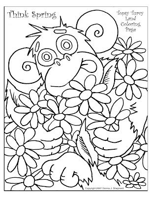 Topsy Turvy Land Activities Coloring Pages Poetry And More A Topsy Turvy Coloring Page For Spring Coloring Pages Spring Coloring Sheets Coloring Pages