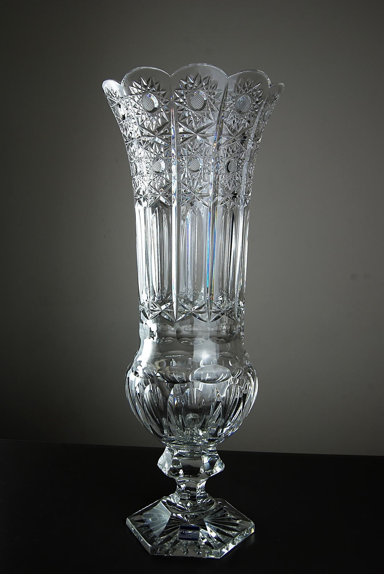 German cut glass vase by olbernhauer vases crystal glass german cut glass vase by olbernhauer vases crystal glass reviewsmspy