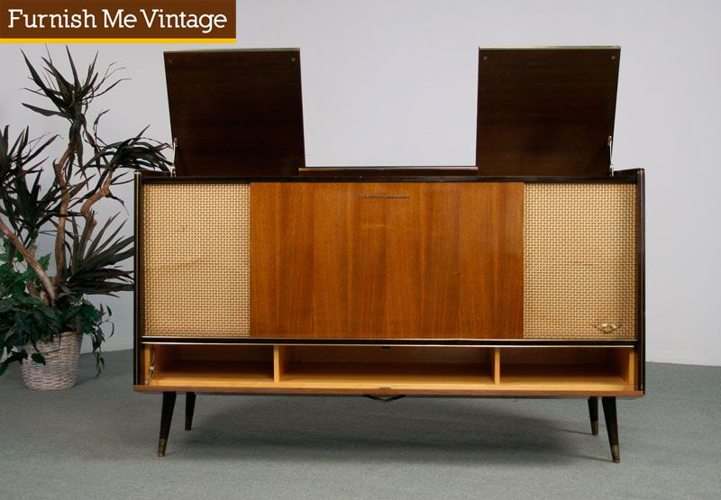 Retro Grundig Stereo Console With Record Player For The