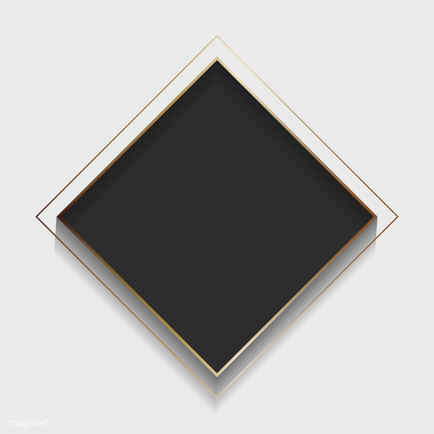 Download Premium Vector Of Blank Square Black Abstract Frame Vector 1209558 Black Abstract Nature Logo Design Abstract
