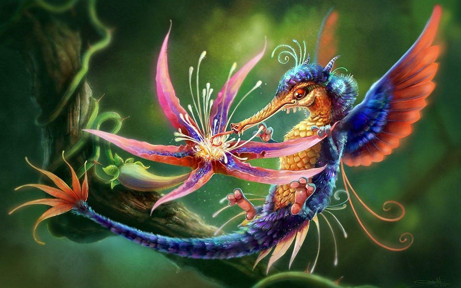 для драконы сказочные волшебные картинки стиле