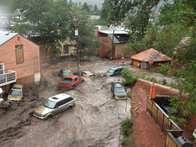 Mudslide, Flash Flooding In Manitou Springs Area - CBS Denver - September 2013 #manitousprings