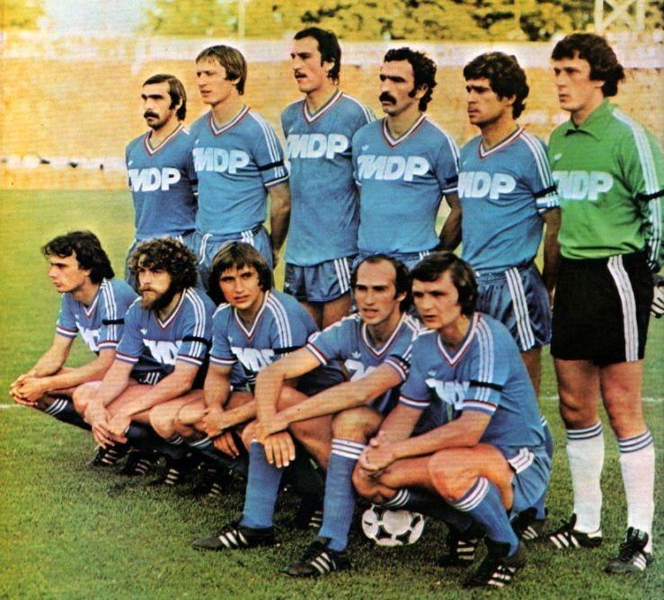 RC STRASBOURG 1980 Debouts Deutschmann, Specht, Bracci