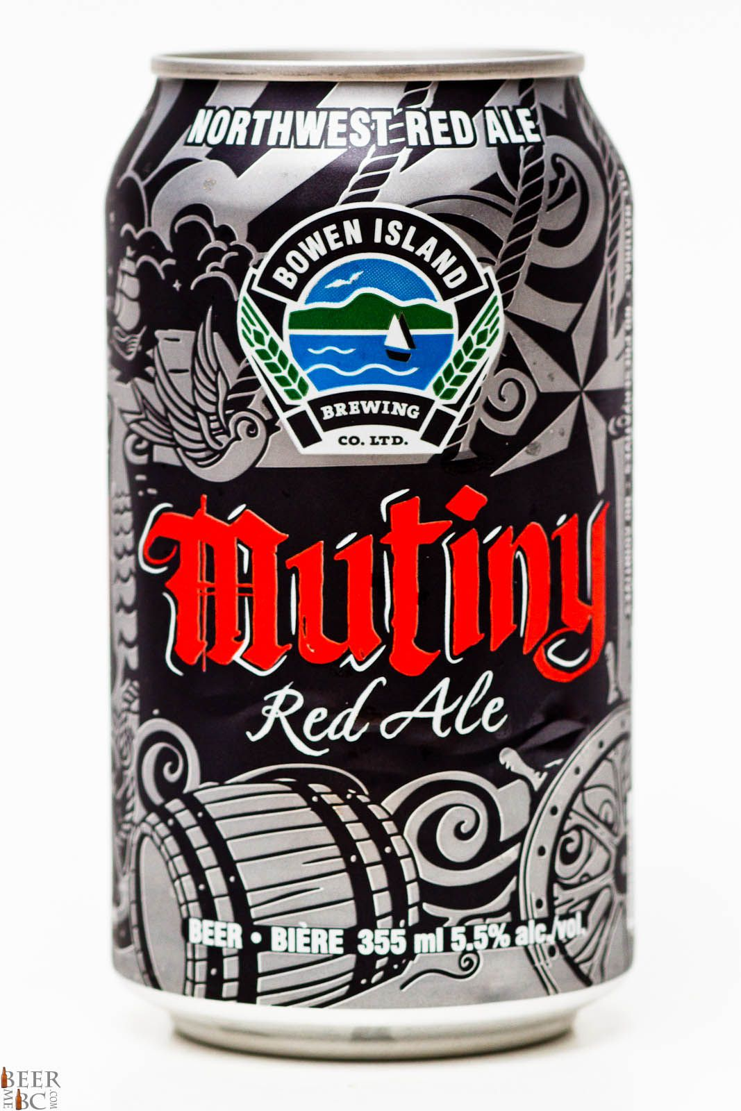 Bowen Island Brewing Co Mutiny Red Ale Ale Beer Beautiful Beer Guinness Beer