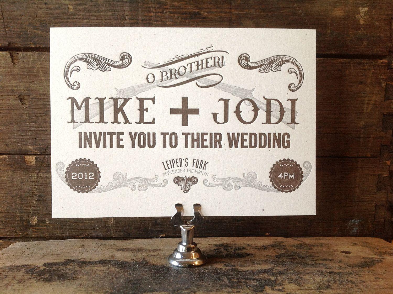 Farm Style Wedding Invitations: Prohibition Wedding Invitation By Thisoktipus On Etsy