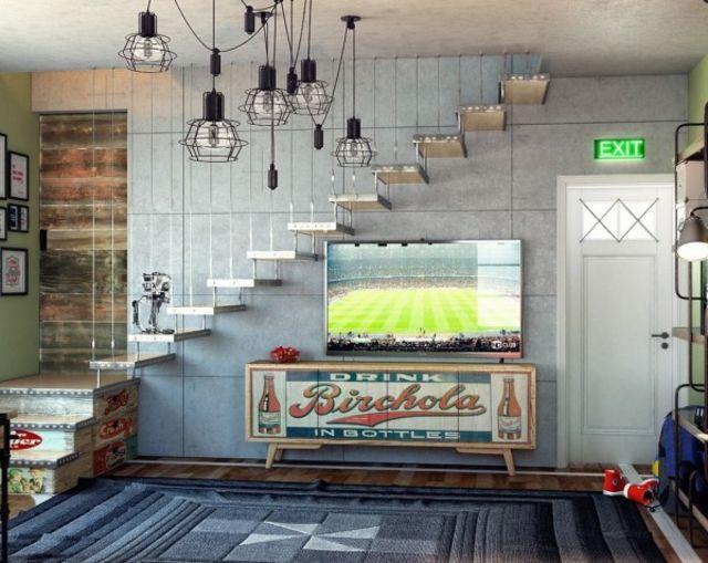 Chambre ado au design d co sympa et original home design pinterest chambres adolescente - Deco chambre original ...