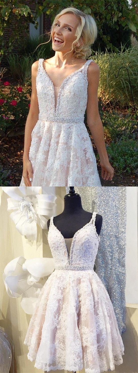 Short white lace homecoming dress homecoming dress short prom