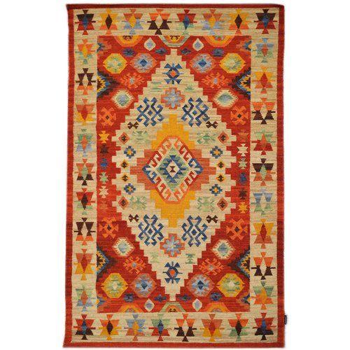 Handgefertigter Kelim Teppich Aus Wolle