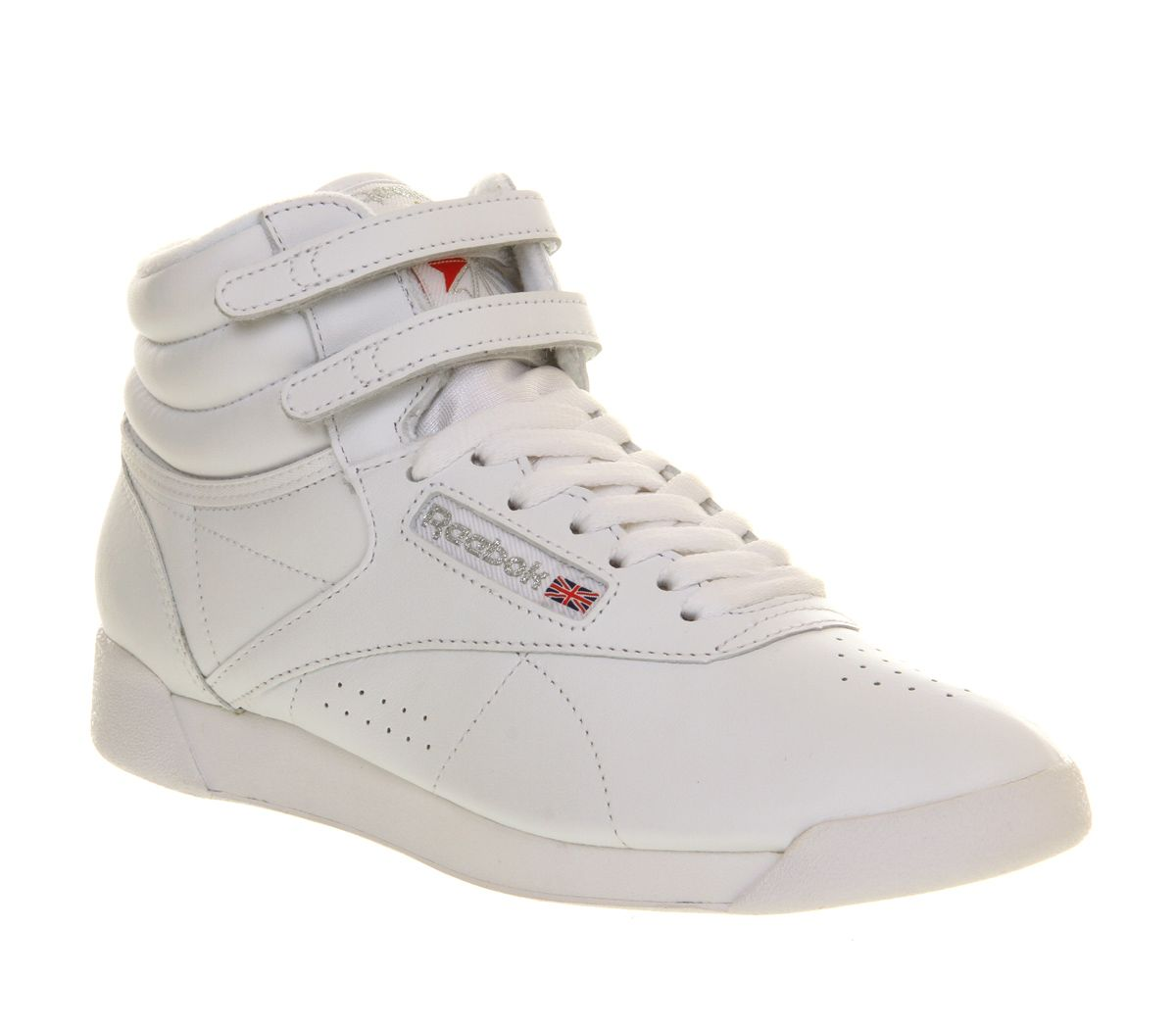 Reebok Freestyle Hi White Silver Hers trainers