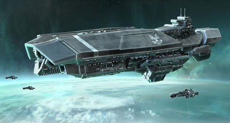 Unsc Ship Halo Naves Espaciales Halo Fondos De