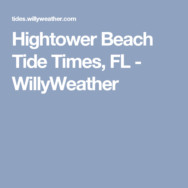 What Time Is High Tide