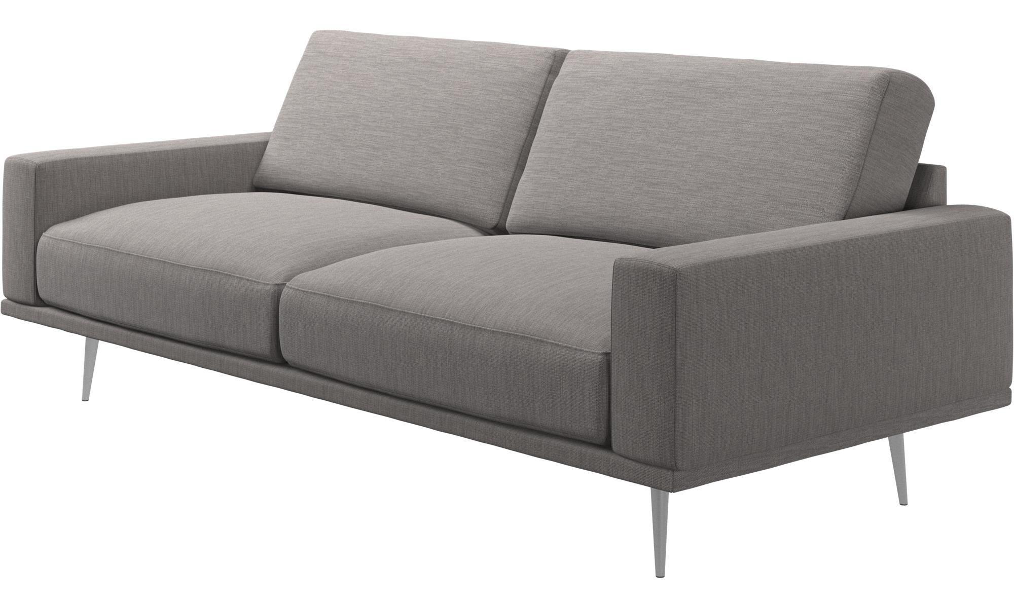 2½ Sitzer Sofas   Carlton Sofa   Grau   Stoff
