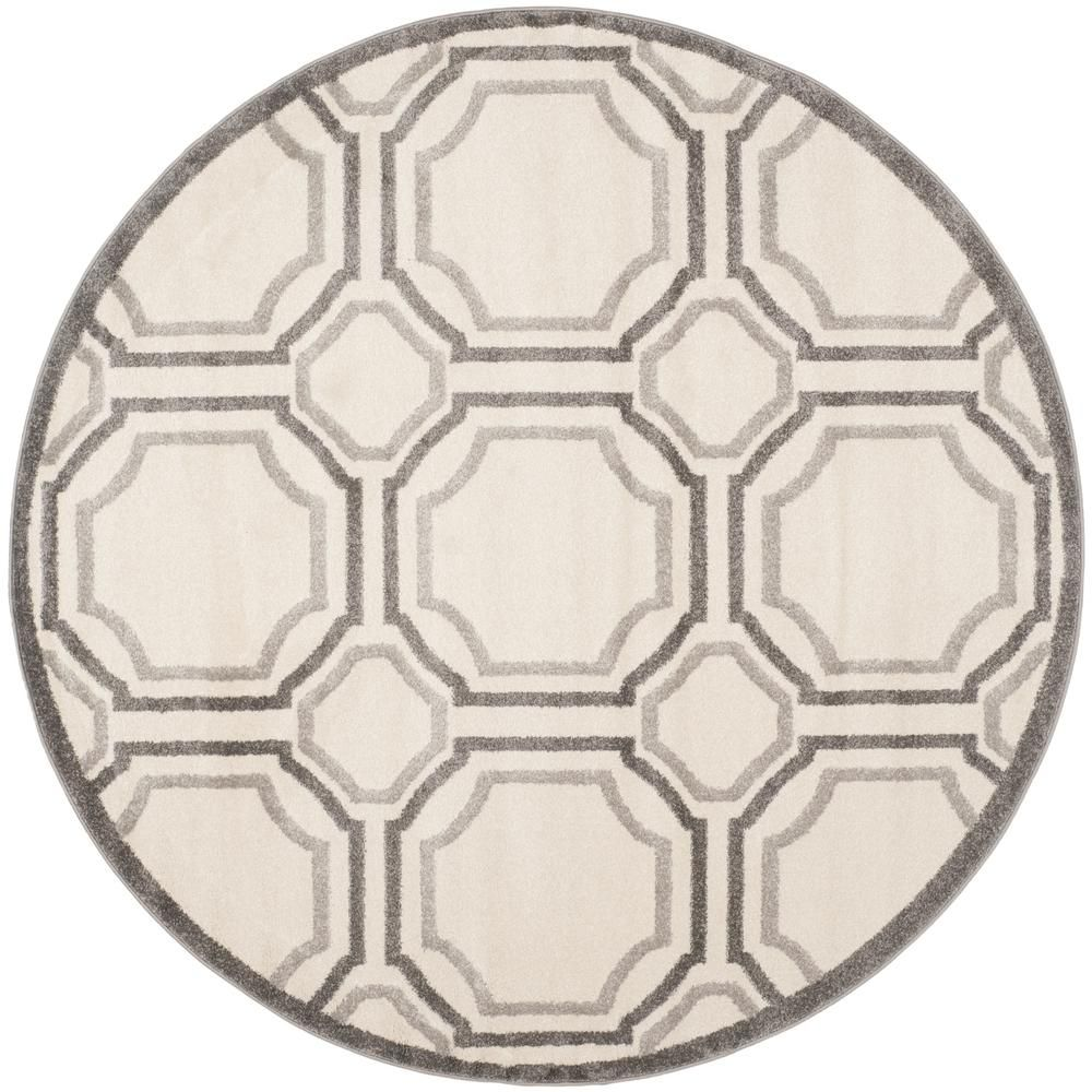 Safavieh Amherst Ivory Light Gray 5 Ft X 5 Ft Round Area Rug