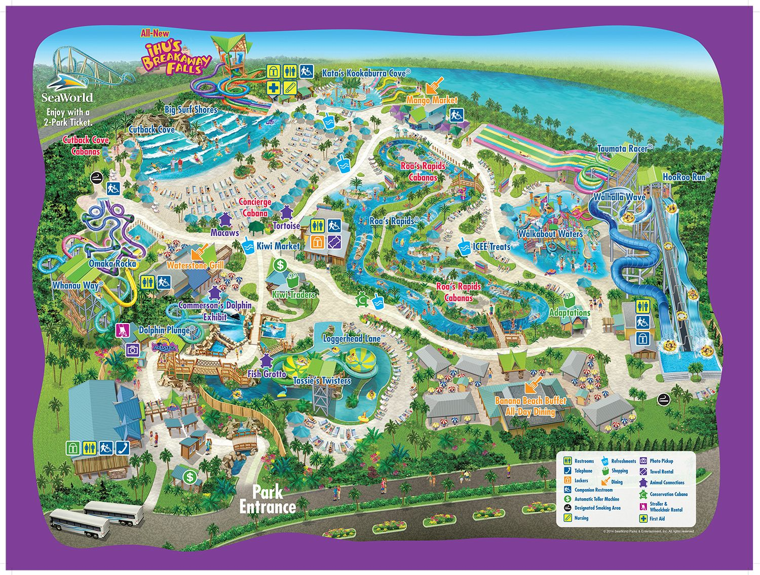 Aquatica Sea Worlds water park in Orlando FL A full day of water
