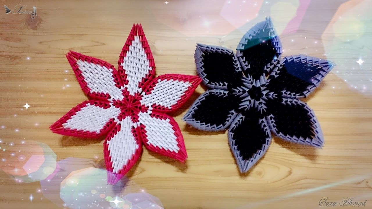 How To Make 3d Origami Flower 3 3d Origami Origami And 3d