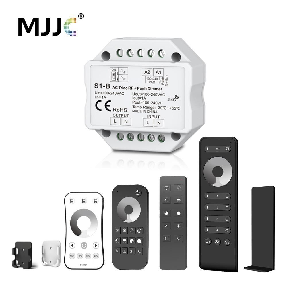 Dimmer Led 220v 230v 110v Ac Triac Wireless Rf Dimmable Push Switch Based Lamp With 24g Remote For Bulb S1 B Yesterdays Price Us 1314