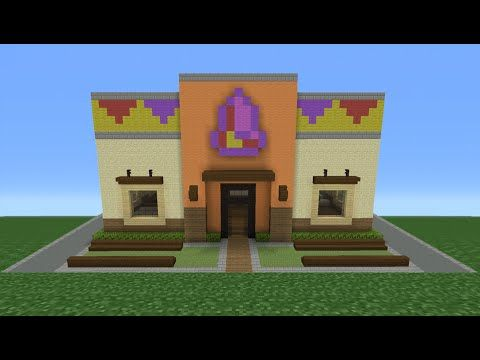 Minecraft Tutorial: How To Make A Taco Bell (Restaurant