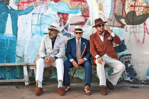 http://chicerman.com  billy-george:  Ignacio Quiles Mario Trillo and J.C. De Luna Boyle Heights L.A.  Photo by Ari Seth Cohen  #streetstyleformen