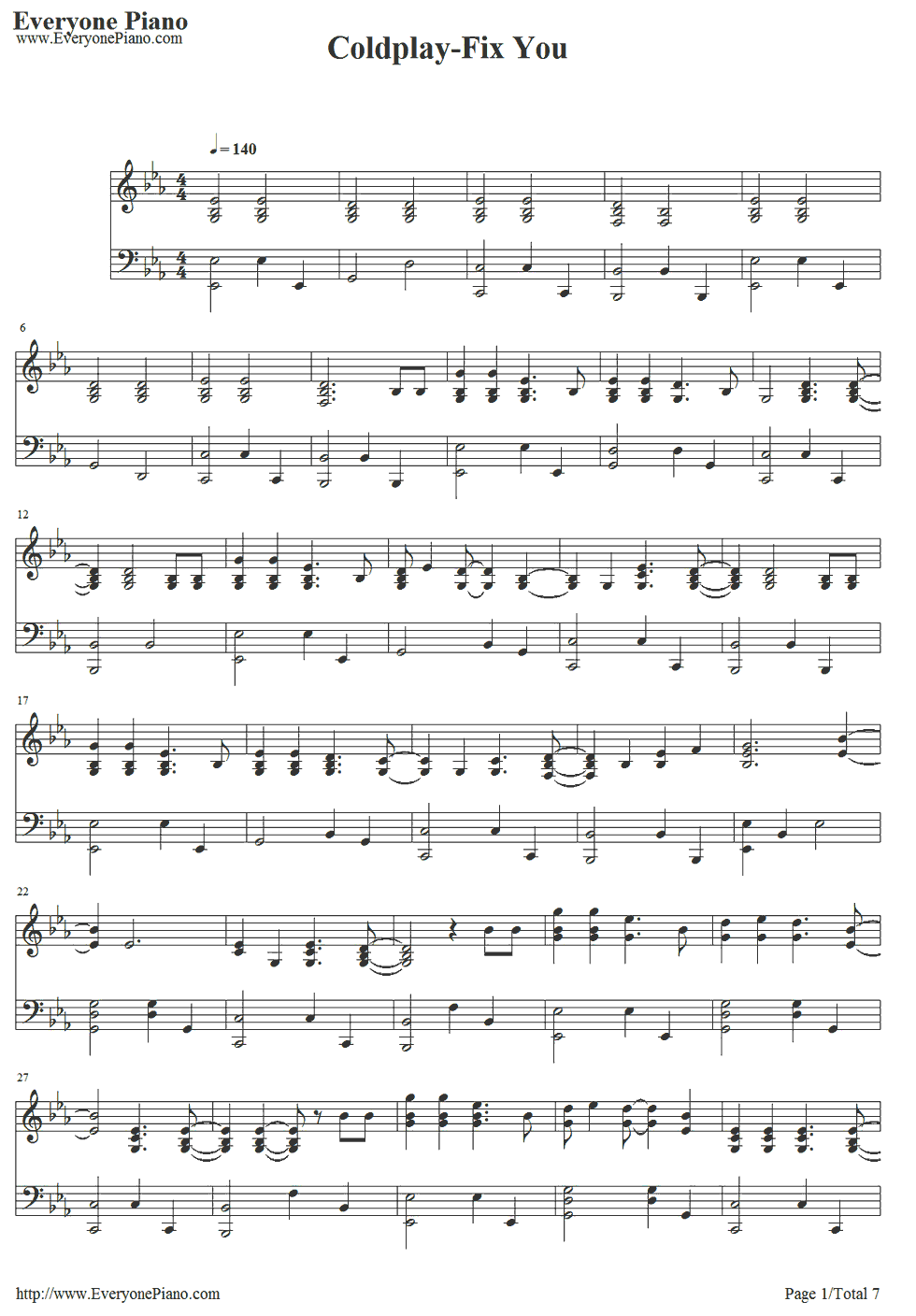 Free fix you coldplay sheet music preview 1 pinteres free fix you piano sheet music is provided for you fix you is a song by british alternative rock band coldplay hexwebz Choice Image