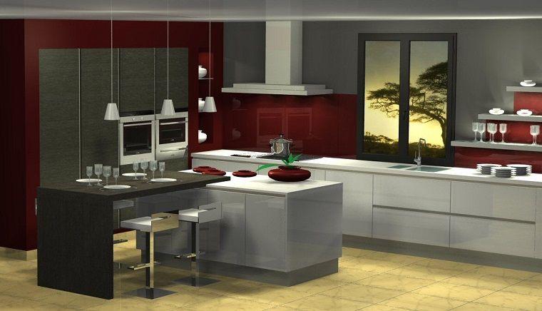 Cucine moderne ad angolo dimensioni ampie architettura cucine