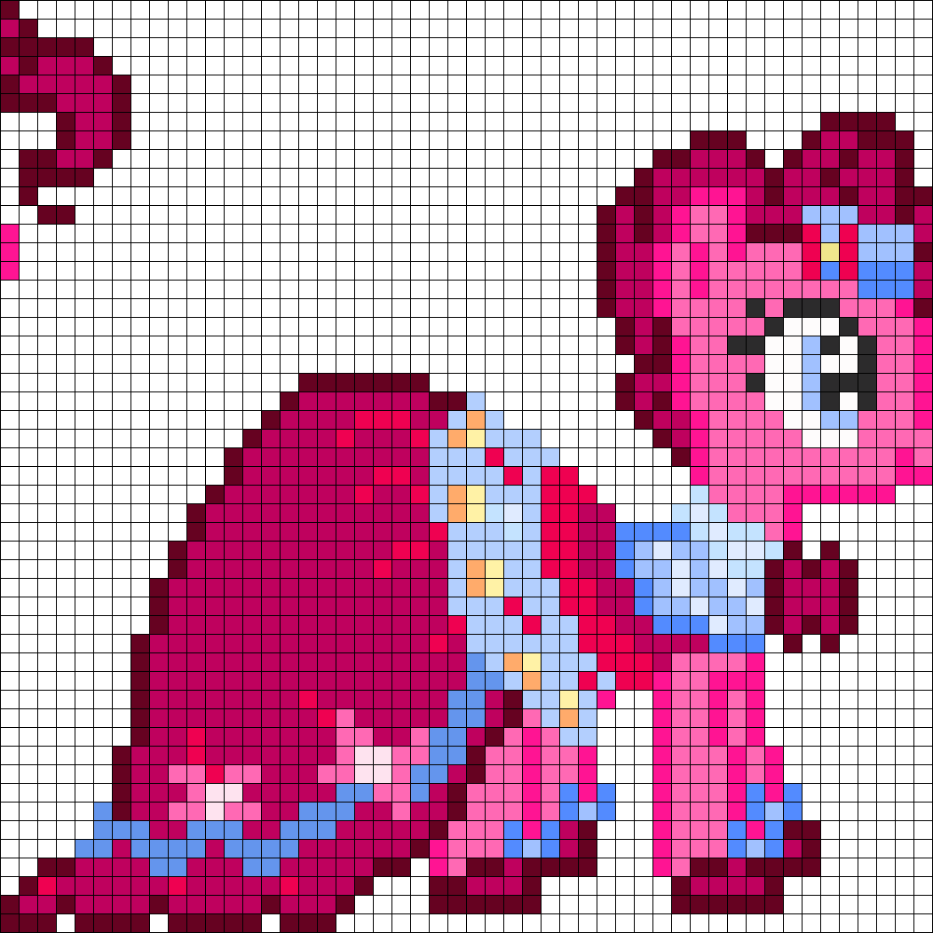 Templates Pinkie Pixel Pony Pie Art Minecraft