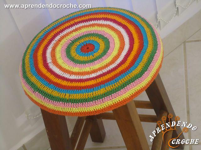 Capa De Croche Banqueta Redonda Com Imagens Capa De Croche