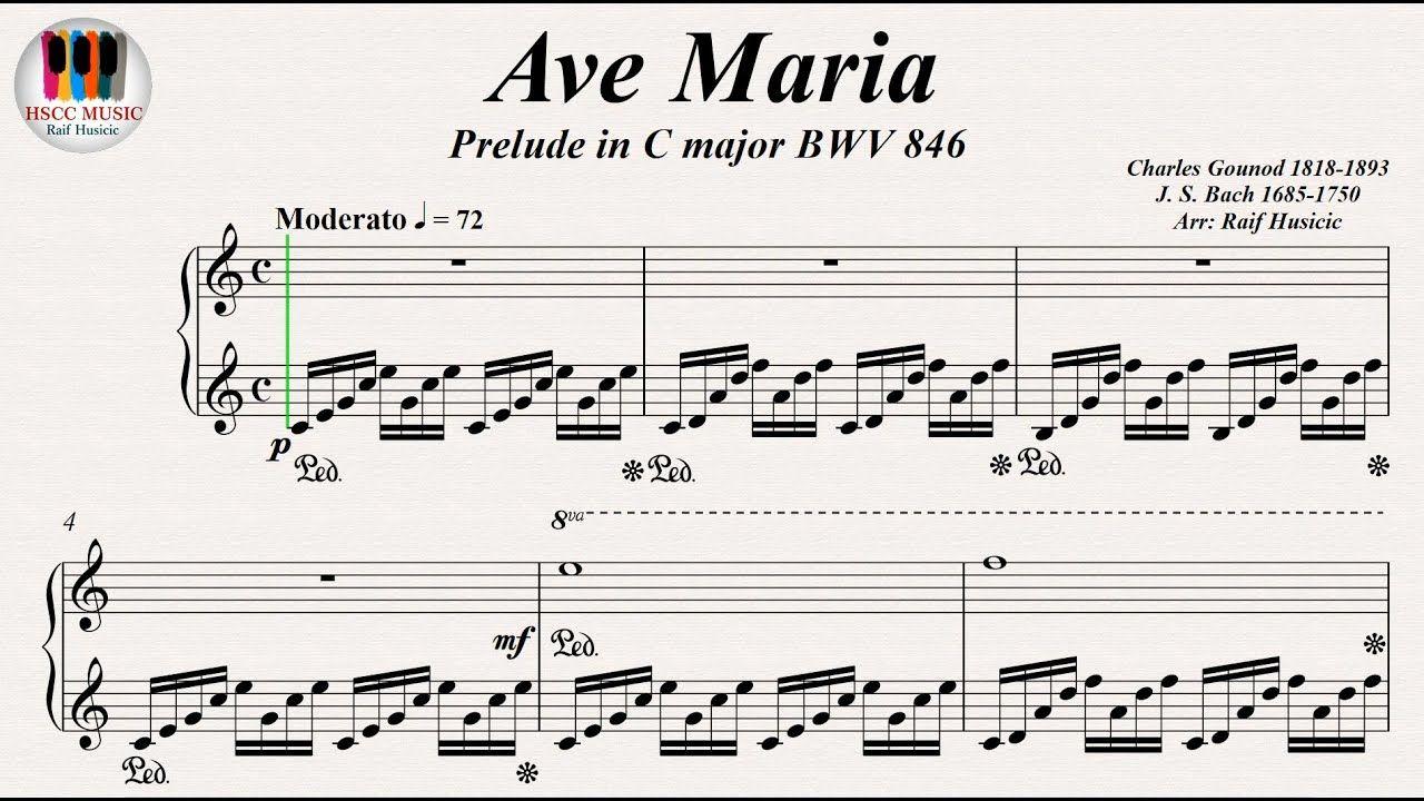 Ave Maria Prelude In C Major Bwv 846 Johann Sebastian Bach