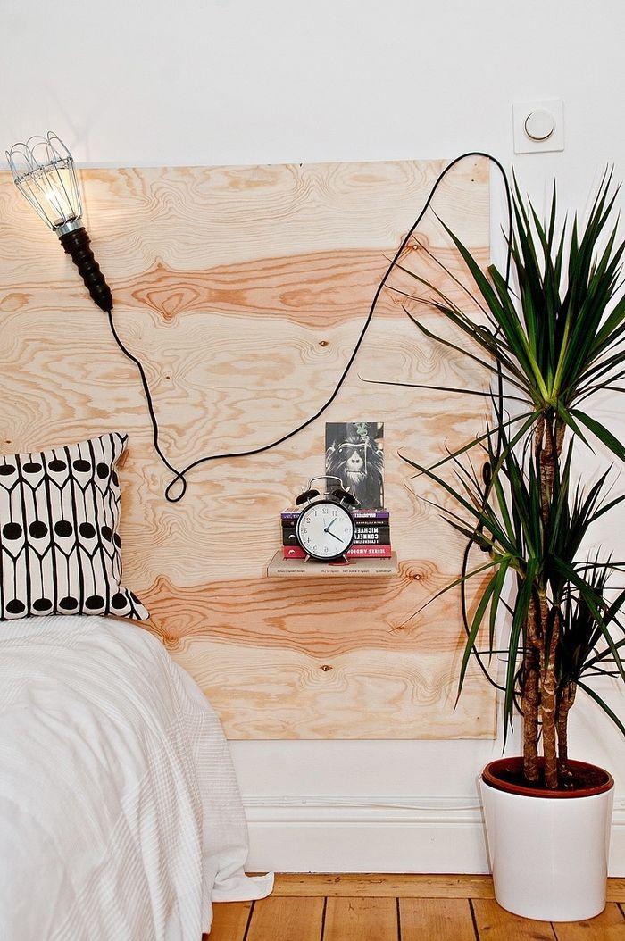 idee tete de lit original faire soi mme ambiance minimaliste avec une tte - Idee Tete De Lit