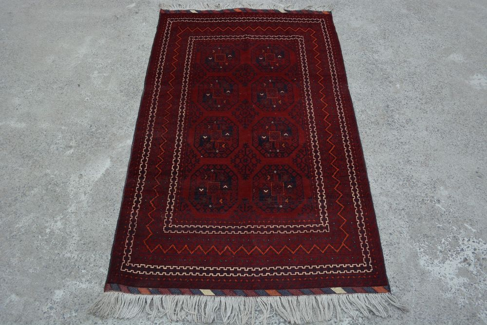 L202, Handmade Afghan Turkoman Tribal Filap Rug Vintage Carpet Kilim 3'9 x 6'2 #Handmade #Tribal