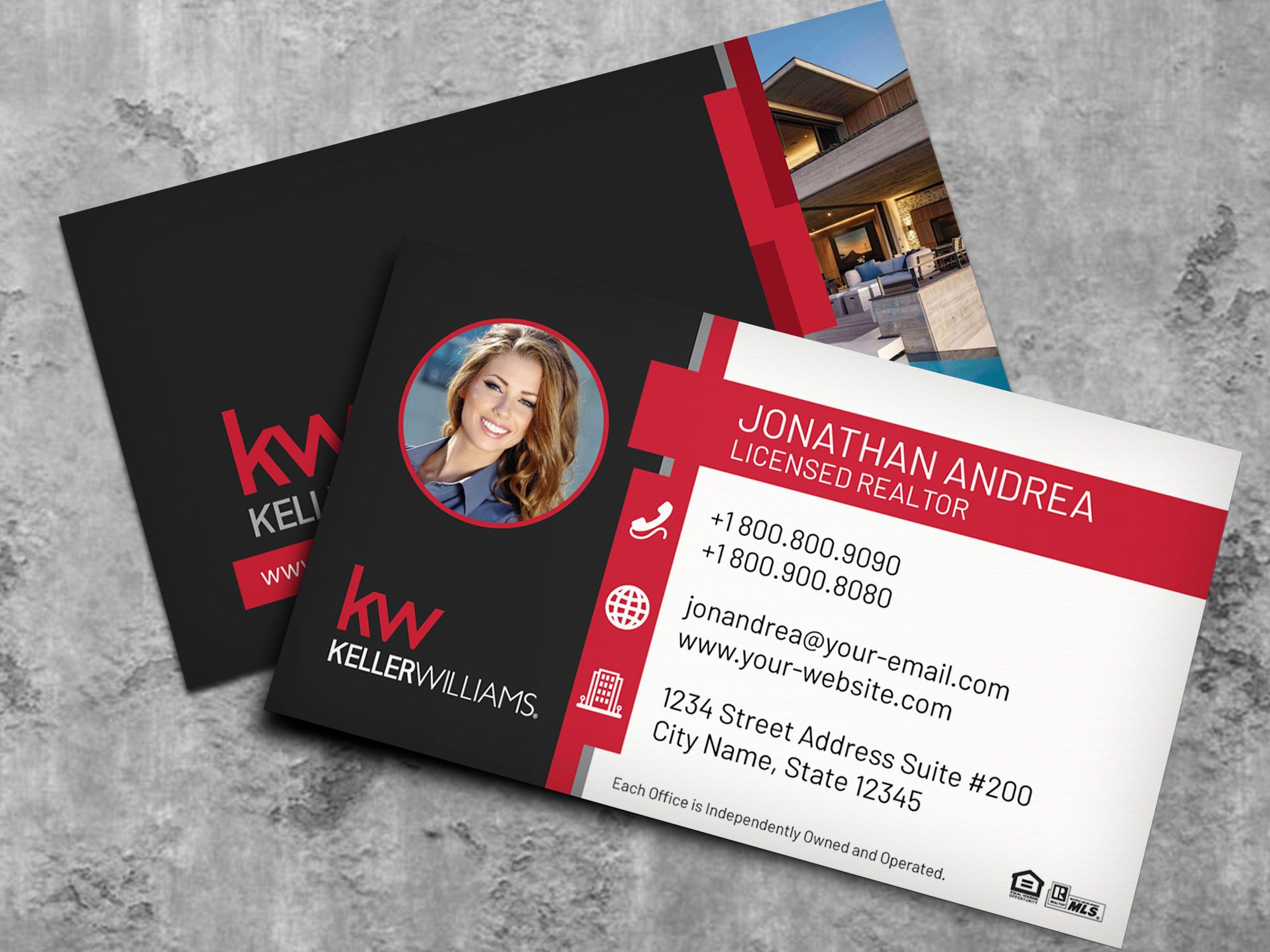 Keller Williams Business Card Template Bc19702kw Nusacreative With Regard Keller Williams Business Cards Realtor Business Cards Free Business Card Templates