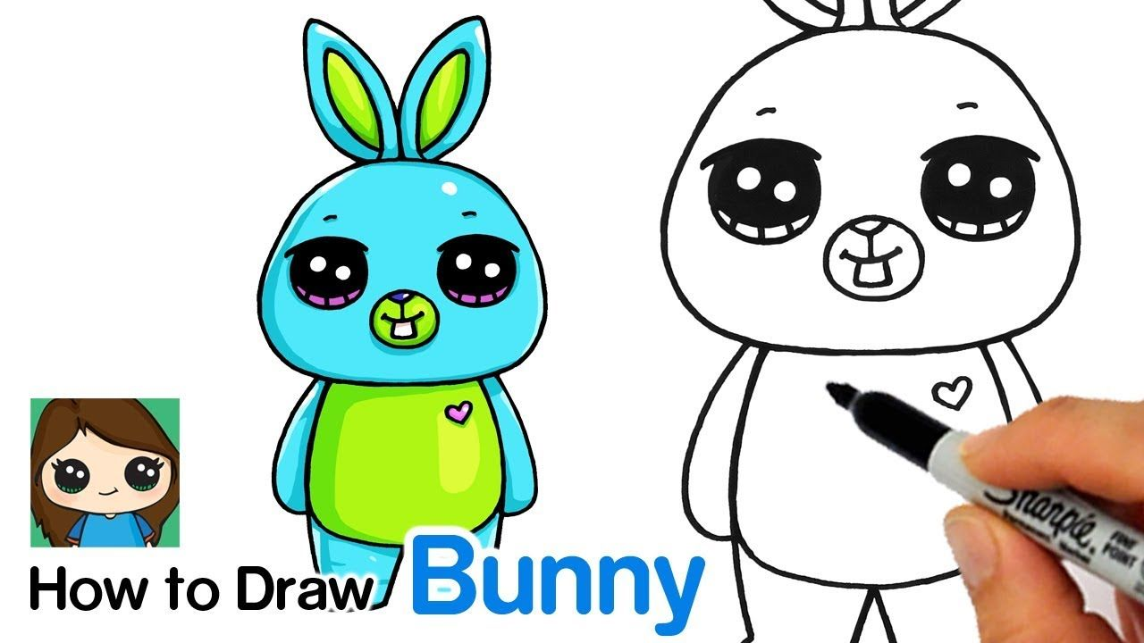 How To Draw Bunny Easy Toy Story 4 Bunny Drawing Toy Story