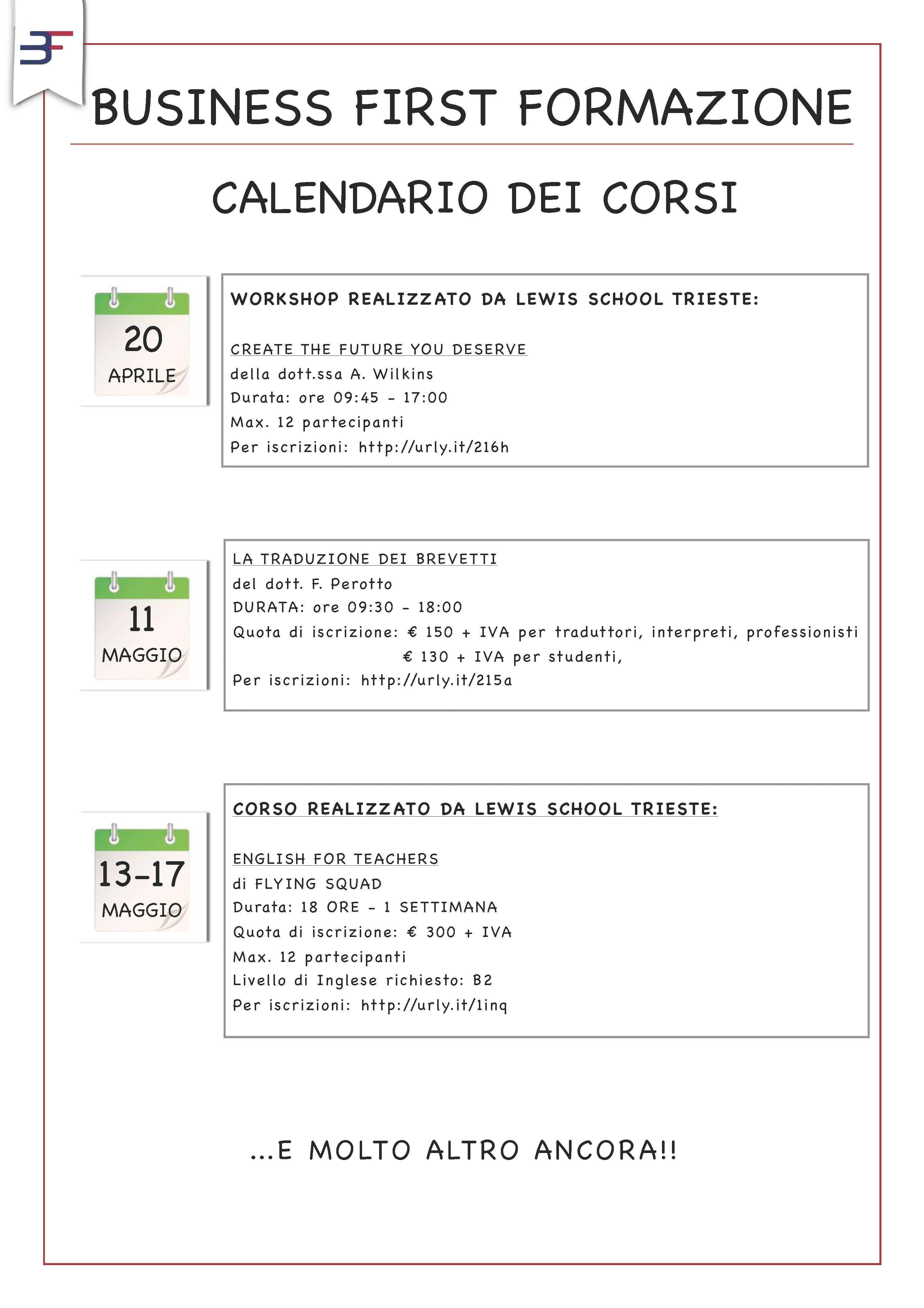 Calendario Traduzione Inglese.Il Nuovo Calendario Dei Corsi Translation Calendario
