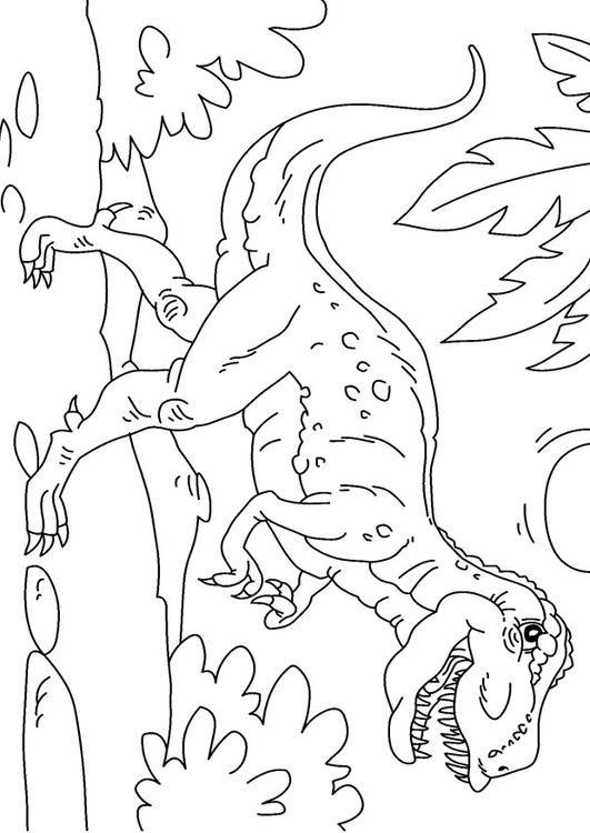 T rex ausmalbild - Ausmalbilder für kinder Kostenlose