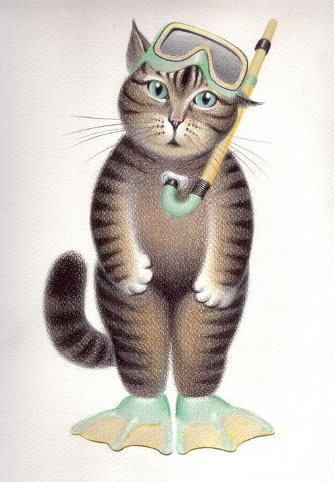 Cat-diver by Marina Leskova (gala)