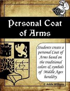 Middle Ages Coat of Arms Activity - Great for a Back To