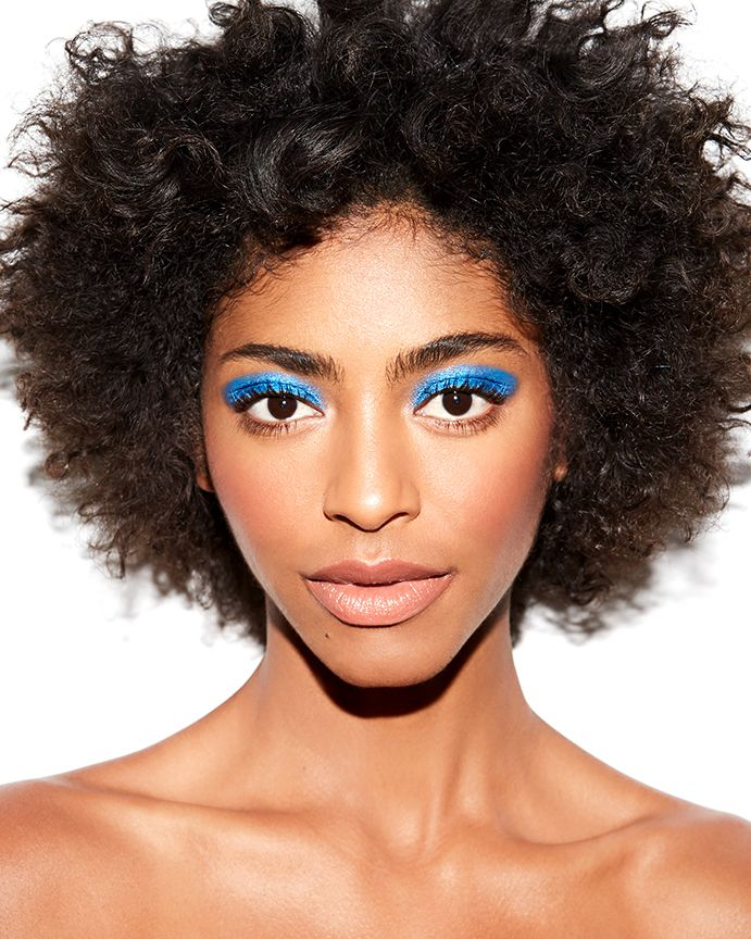 "Bright eyes: Neon underliner or inner shadow creates edgy, look-at-me eyes (searches for ""bright eyeshadow"" +63%)"