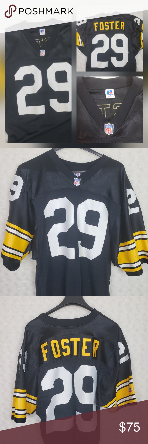3392bf40e Vintage Pittsburgh Steelers Football Jersey Barry Foster  29 Vintage Jersey