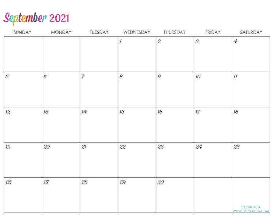Custom Editable 2021 Free Printable Calendars in 2020 ...