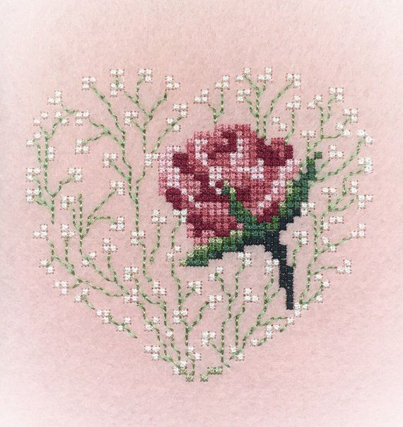 Machine Embroidery Design Rose Set Cross stitch French knot Flower Embroidery pattern #number5