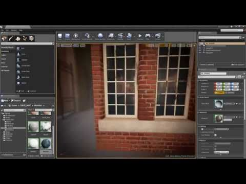 Unreal 4 Materials 11 Windows With Fake Interiors Bump Offset