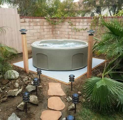 How to make concrete pad for hot tub with clear instructions concrete steps aloadofball Images