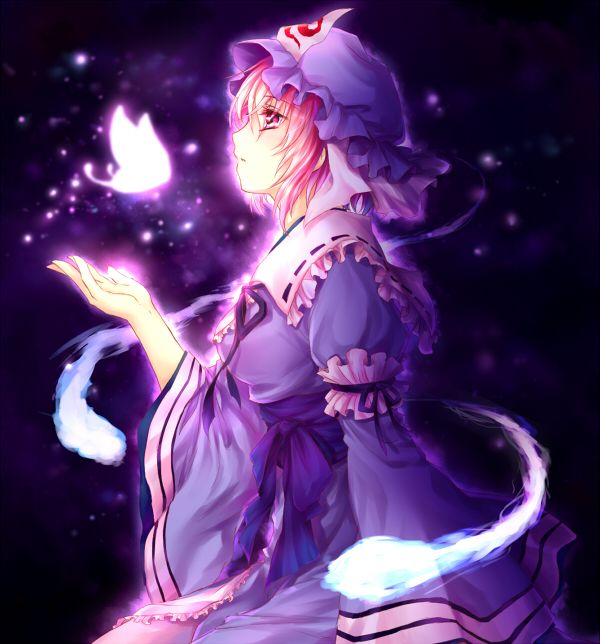 anime wallpapers saigyouji yuyuko5e0 東方 かわいい イラスト 東方 キャラ