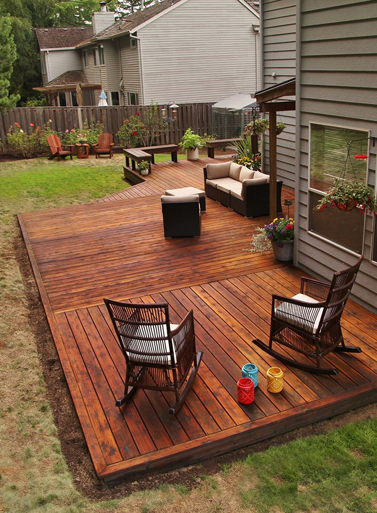 Make Your Deck Look Great For Autumn Or Any Season With The Nourishing Protection Of Thompson S Waterseal Penetr Staining Deck Deck Plans Diy Decks And Porches