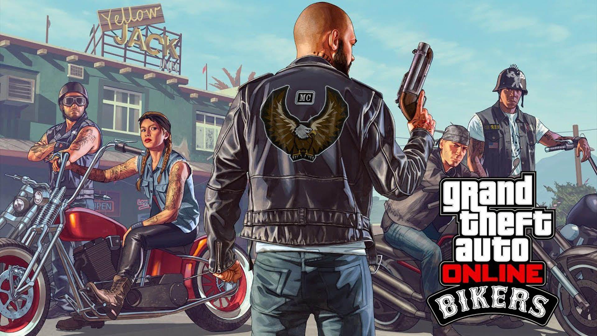 Bikers GTA 5 Online Update DLC 1920x1080 wallpaper Boy